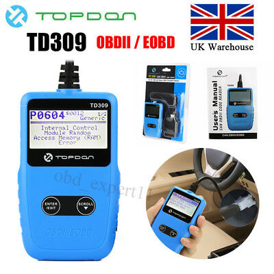 Topdon TD309 OBD2 EOBD Auto Diagnostic Code Scanner Scan Reader Tool CAN BUS UK