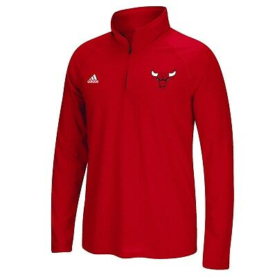 Adults Large Chicago Bulls adidas Climalite 1/4 Zip Top H644