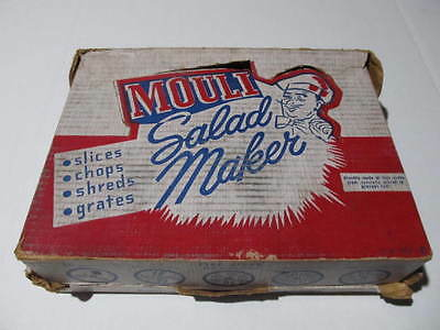 Vintage Mouli Salad Maker Plus 5 Disc **** Please Read ****
