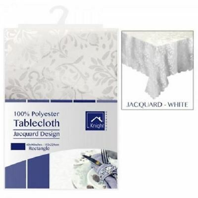"""New 72"""" Round Table Cloth Damask Floral Tablecloth Tableware Dining Jacquard"""