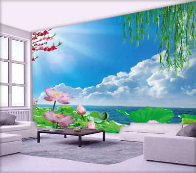 Sunny Relaxing Sky 3D Full Wall Mural Photo Wallpaper Printing Home Kids Decor