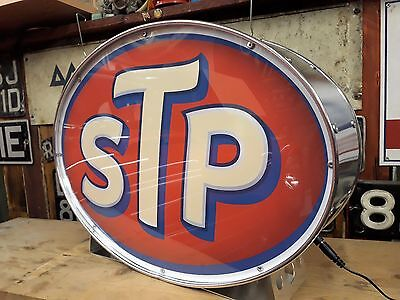 STP,70s,racing,vintage,classic,oil,mancave,lightup sign,garage,workshop,shed