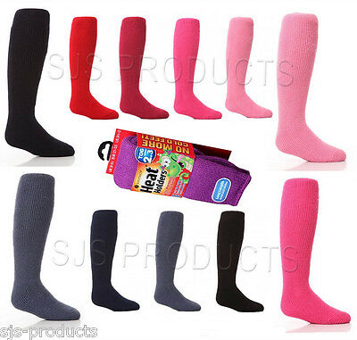 Boys Girls KIDS CHILDRENS 2.34 Tog THERMAL SOCKS Heat Holders Sizes 9 to 5 Welly