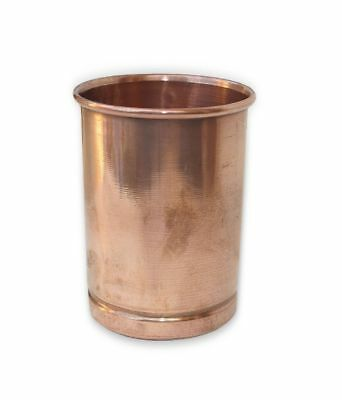 100% Copper Drinking Glass Cup Tumbler Mug 300 ml - Ayurveda Health Yoga