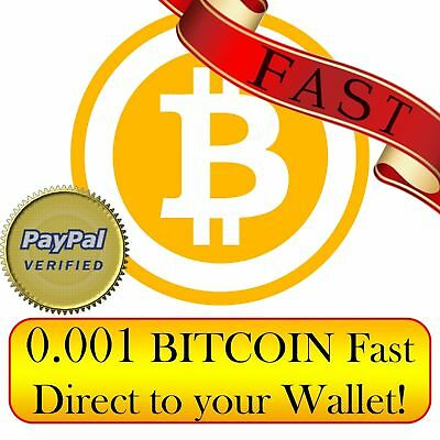 Bitcoin 0.001 (BTC) fast delivery to your bitcoin wallet