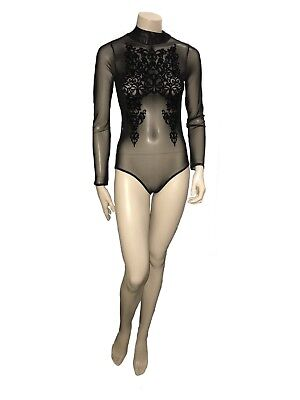 Black Mesh Ayanapa Bodysuit great for Dancing - Size 8 - A Grade Condition