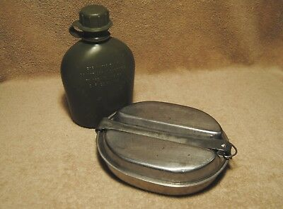 Vintage US Army Mess Kit and Canteen