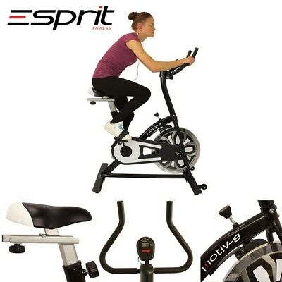 Esprit ES-741 MOTIV-8 Exercise Spin Bike Fitness Cardio Aerobic Machine WHITE