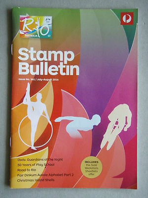 Australia Post Stamp Bulletin Issue No. 341 Jul - Aug 2016 Road To Rio
