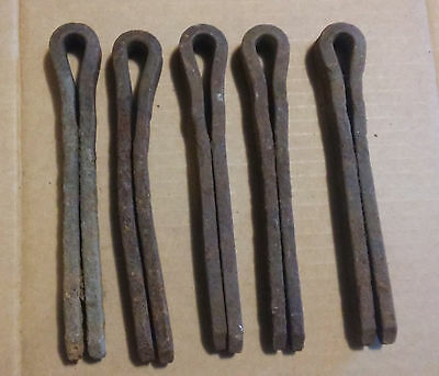 """(5) Railroad Lock Spikes - Old & Rusty , 6 3/4"""", Crafts, Huge Cotter Pins!"""