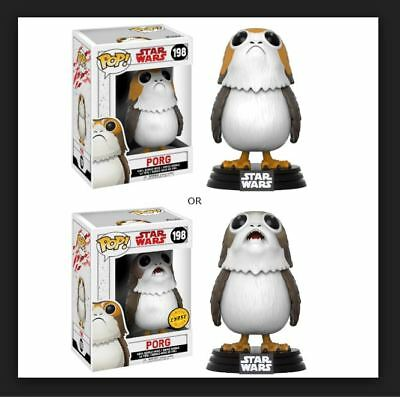 Funko Pop! 1 PORG CHASE and 1 common PORG star wars w free protector ( 2 pops )