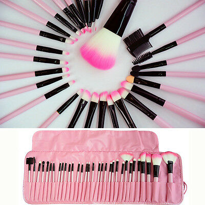 32pcs Set Professional Soft Cosmetic Eyeshadow Makeup Brush Kit + Pouch Bag Case