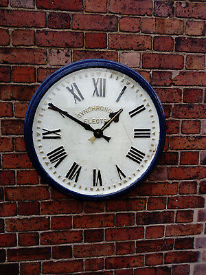 Antique Cast iron platform type wall clock 24inches c/w original smiths 240v mov