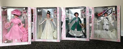 """NEW 1995 """"MY FAIR LADY"""" Eliza Doolittle Set of 4 Collector Edition NRFB"""