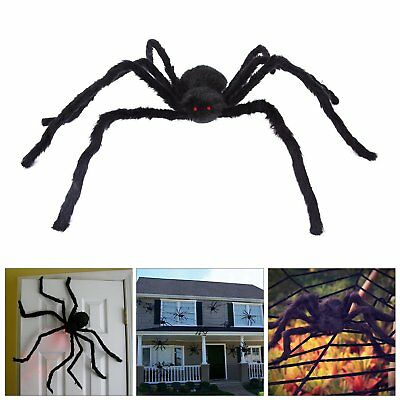29 ft Huge Halloween Outdoor Decor Hairy Spider by Spooktacular Creations(black)