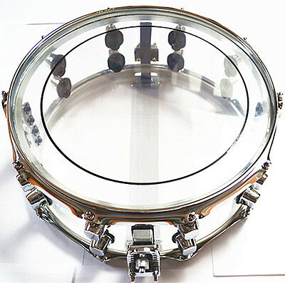 Snare Drum 14x5.5 Inch Transparent Shell