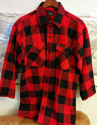 90s Vintage Codet Flannel Grunge Seattle After Party 3/4 sleeve Buffulo Plaid