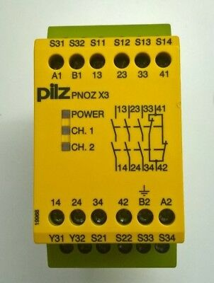 Pilz Safety Relay - Pnoz-X3 24V Ac/dc 3N/o+1N/c