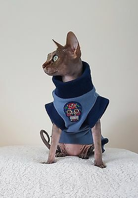 adult SKULL cat top for a Sphynx cat clothes for Sfinks, cat clothes
