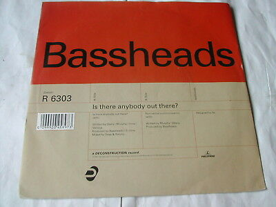 """Bassheads - Is There Somebody Out There - Parlophone 7"""""""