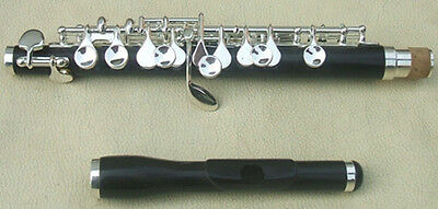 Piccolo Kit Mixed Ebony/Ebonite Powder Cupronickel Part Silver Plated