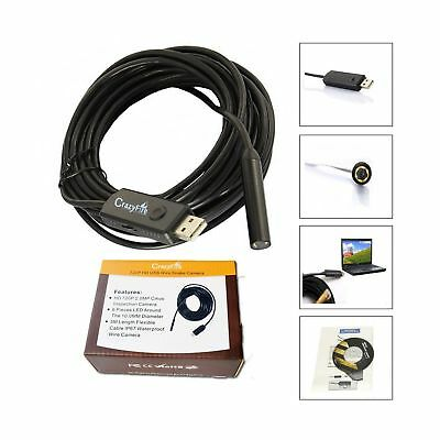 CrazyFire 2.0MP HD 720P Coms 6 LEDs USB Snake Inspection Camera Pipe Locator ...