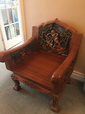 Antique Teak Chairs, Thai Furniture, Southeat Asia Wood