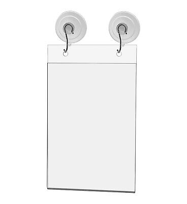 "Ad Frame Sign Holder Wall Mount 5 1/2""W x 8 1/2""H with Hooks and Suction Cups"