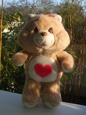 Vintage Peluche Doudou Ours Care Bear Bisounours Gros Bisou 33 Cm Kenner  1983