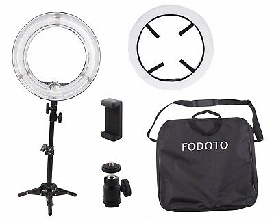 13 inch Table-Top Fluorescent Diva Ring Light Kit (photo/video)