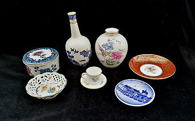 Job Lot/assortment Of Miniature Porcelain Royal Doulton Spode Royal Worcester