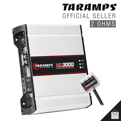 Taramps HD3000 2 Ohms Amplifier EQ Taramp's HD 3000 Watts Full Range Digital Amp