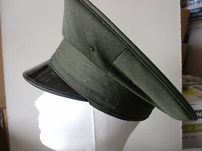 Uniform Round Hat - Dark Green - Lancaster Brand 100% WOOL Size 6 5/8 (A926)