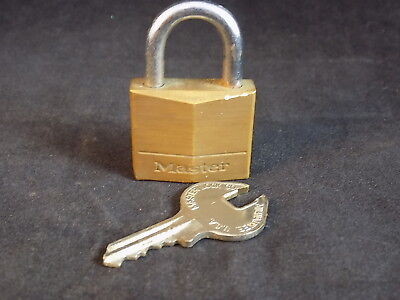 Vintage BRASS MASTER LOCK with Key No. 130 small working padlock and keys