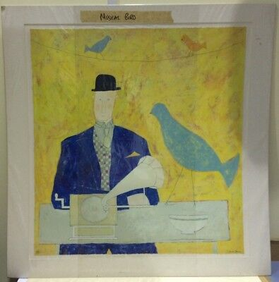 Print Only Annora Spence Lady and Accordian In Stock