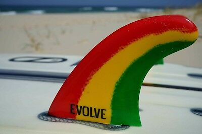 Surfboard fins Evolve Rasta Thruster set