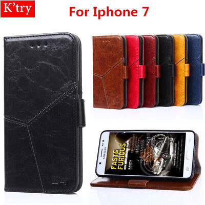 Luxury Magnetic Leather Flip Wallet Case Cover for iPhone 7, 8 Genuine K'Try
