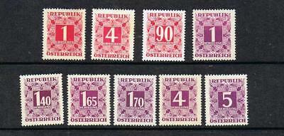 AUSTRIA  1949  STAMP DUTY STAMPS  SELLECTION from 1g to 5s (MINT- HINGED) A81b