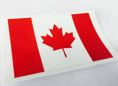 """Canada Country Flag Poster Car Ford Harley Motorcycle Bike Decal Sticker 4""""x3"""""""
