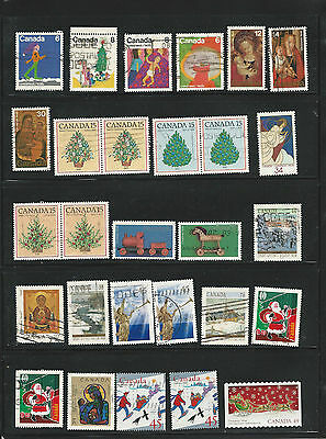 Canada - Used Christmas Stamps
