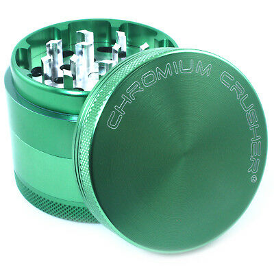 "Chromium Crusher 2"" Inch 4 Piece Tobacco Spice Herb Grinder - Green"