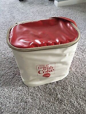 Vintage Coca-Cola White Plastic Cooler Bag Things Go Better With Coke