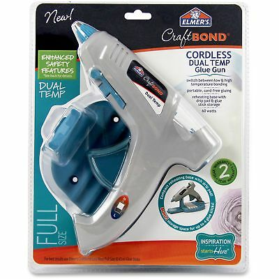 Elmer's Craftbond Cordless Dual Temp Glue Gun 60W Gray E6052