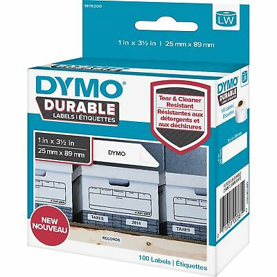 DYMO LW Durable Shelving Labels 1 x 3 1/2 100/Roll 1976200