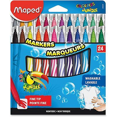 Helix Washable Markers Fine Tip 24/ST Ast 845449
