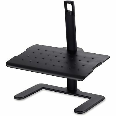 Safco Height-Adjustable Footrest 20 1/2w x 14 1/2d x 3 1/2 to 21 1/2h Black