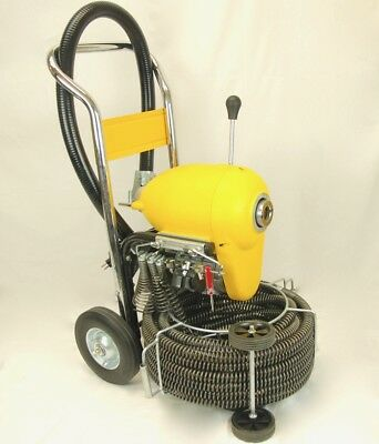 "BLUEROCK ® Tools SDS200B 2"" - 8"" Sectional Pipe Drain Cleaning Machine & Snake"