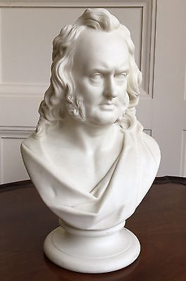 Large Parian Bust. Professor John Wilson, 1785-1854. Possibly Worcester, c.1850