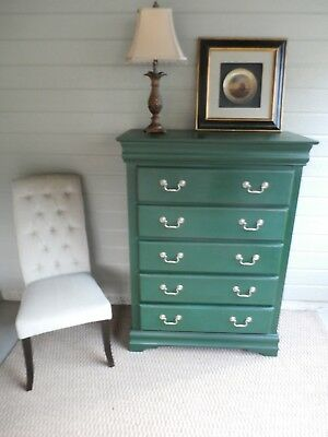 Hand Painted / Shabby Chic /  One of a kind Dresser / Chest of Drawers / Highboy