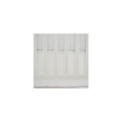 OpenBox Oliver B Owen & Ounce zie Crib Skirt with Trim, Off-White/Grey